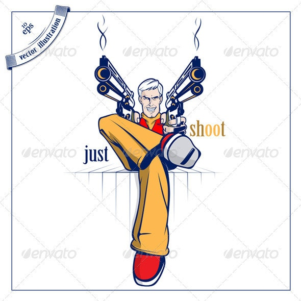 Cartoon Gan Man - People Characters