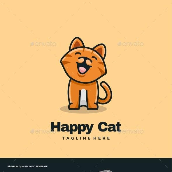 Cat Mascot Cartoon Logo Template