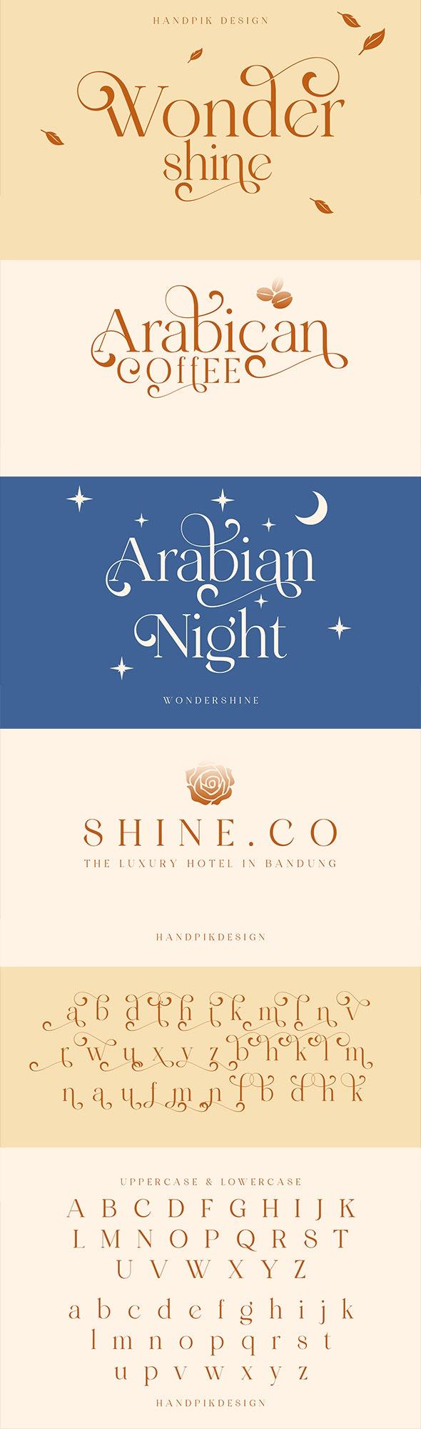 wondershine - Serif Fonts