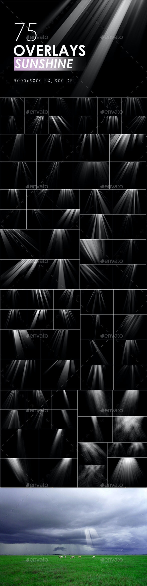 75 Sunshine Overlays - Miscellaneous Backgrounds