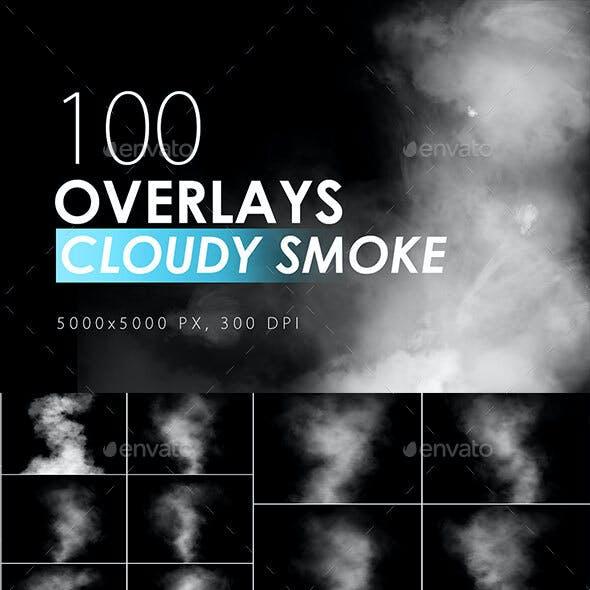 100 Cloudy Smoke Overlays