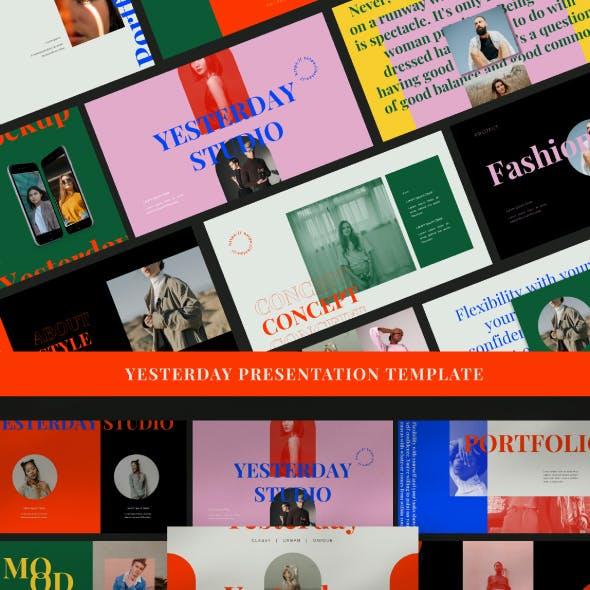 Yesterday - Presentation Template