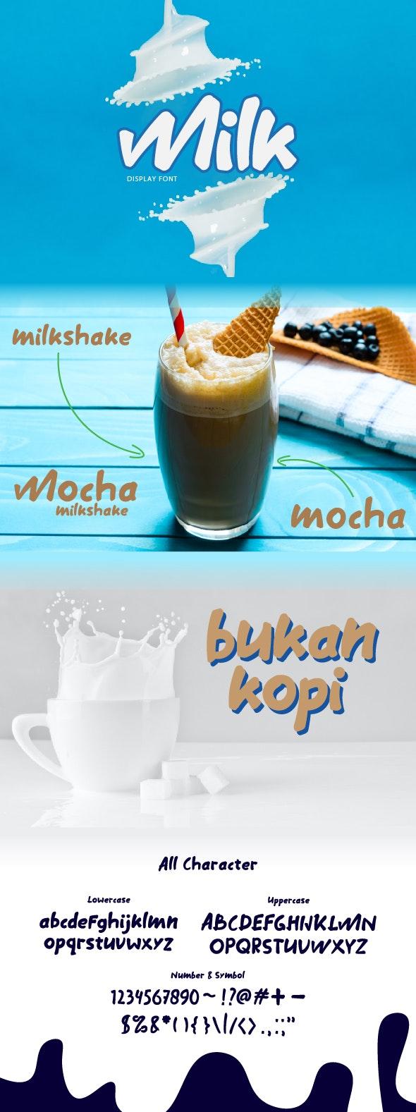 Milk font - Decorative Fonts