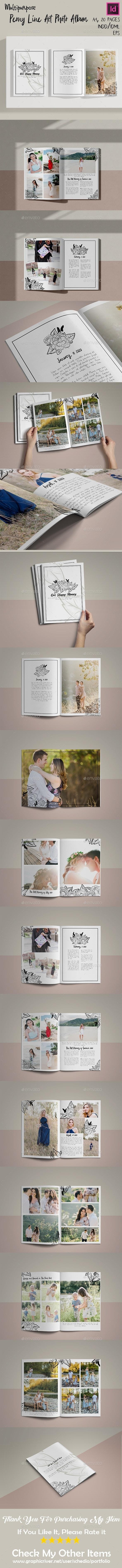 Peony LA Photo Album - Photo Albums Print Templates