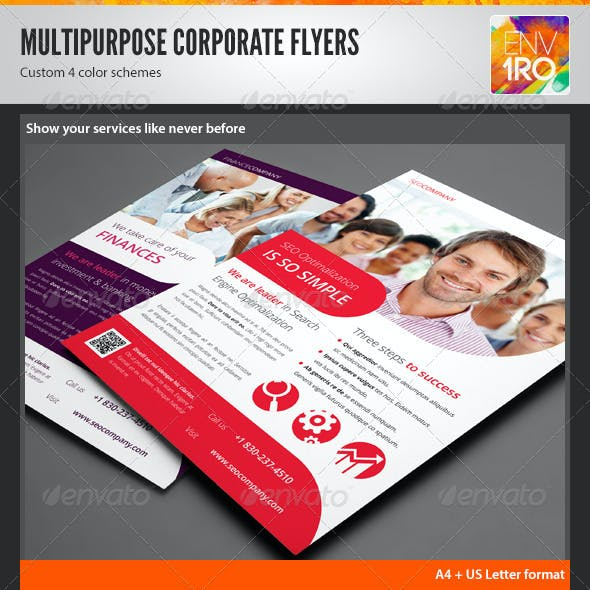 Multipurpose Corporate Flyers, Magazine Ads vol. 2