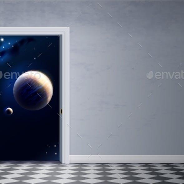 Open Door and Space in the Room