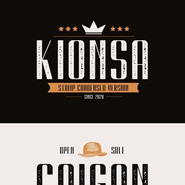 Kionsa Stamp – Vintage Display font