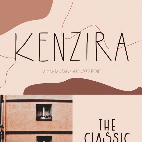 Kenzira – A Hand Drawn Art Deco Font
