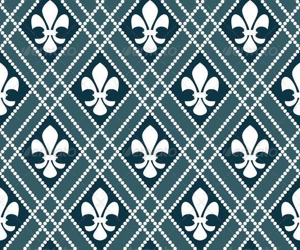 Fleur de lis seamless pattern - Patterns Decorative