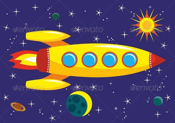 Space Rocket - Conceptual Vectors