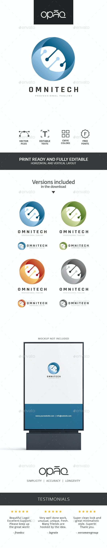 Abstract Circular Technologies Logo - Abstract Logo Templates