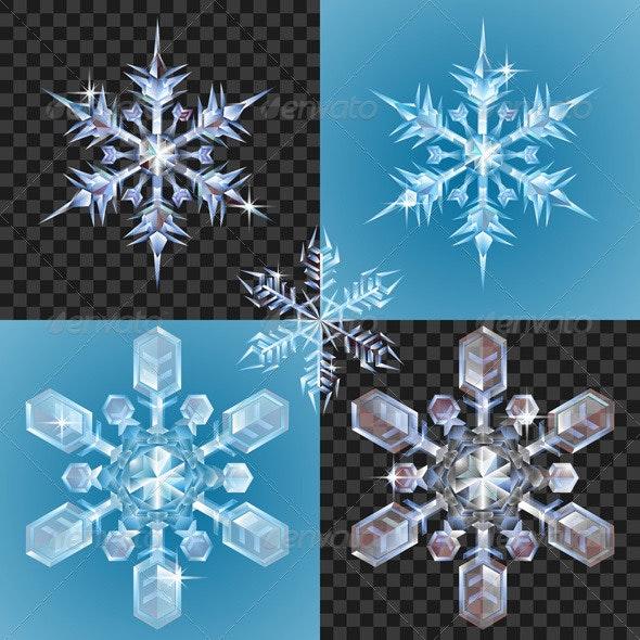 Christmas Snowflake design elements - Christmas Seasons/Holidays