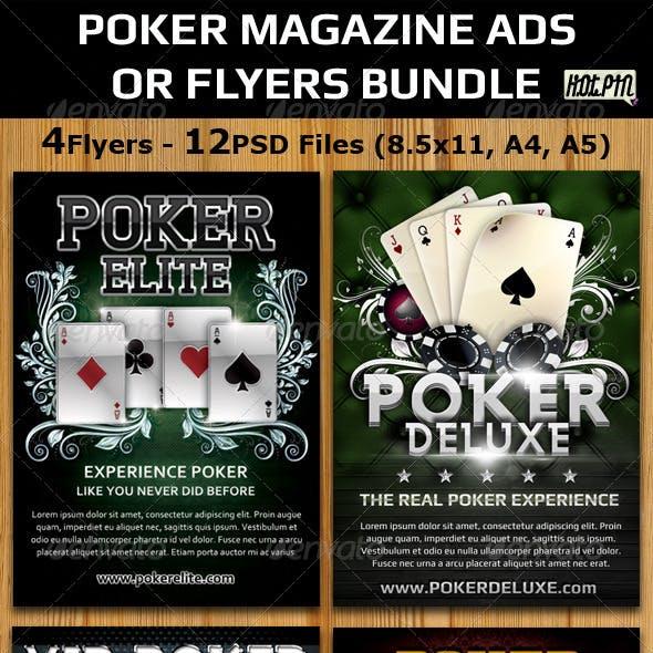 Poker Magazine Ads-Flyers Template Bundle