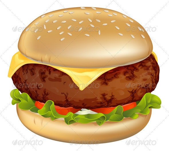 Burger illustration - Food Objects