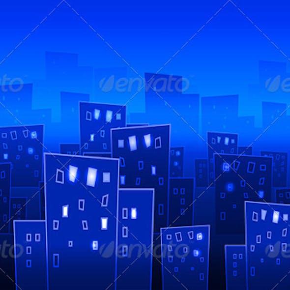 Abstract big city at night