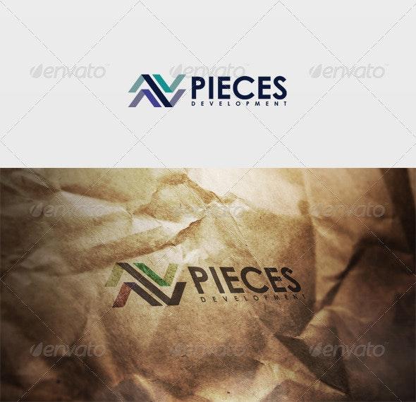 Pieces Logo - Vector Abstract