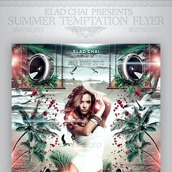 Summer Temptation Party Flyer Template