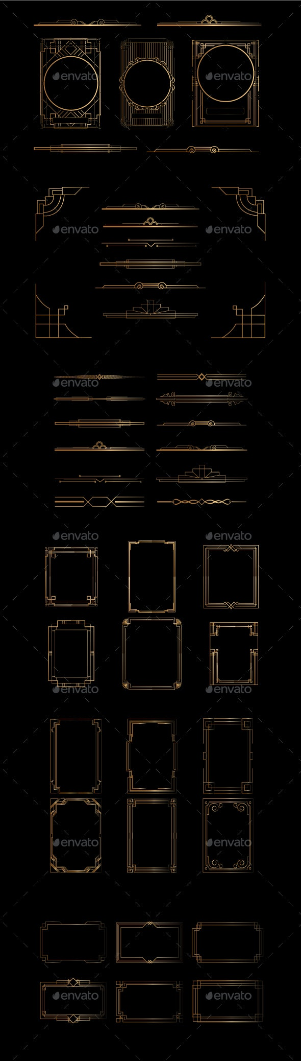 Frame Art Deco - Borders Decorative