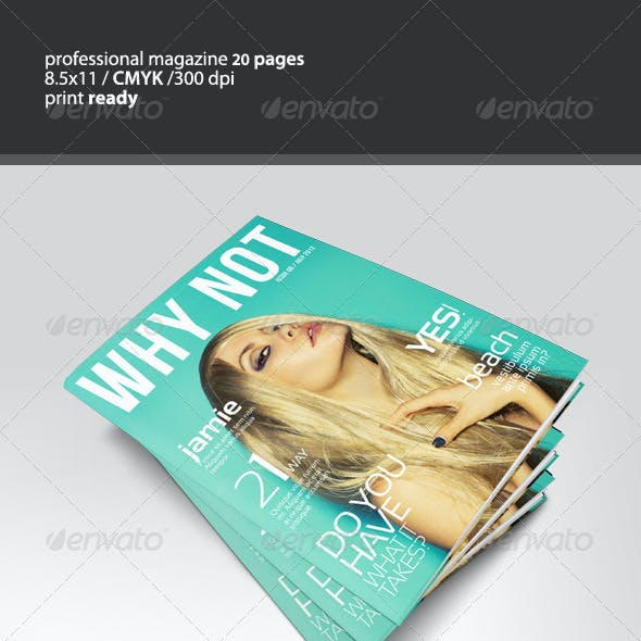 WHY NOT Magazine 2 sizes