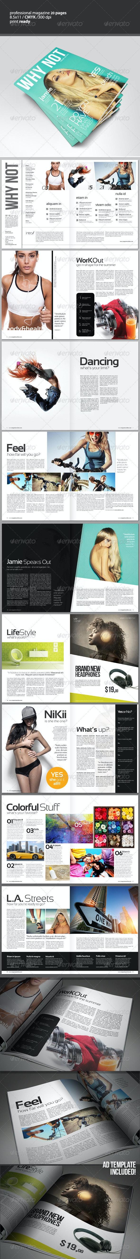 WHY NOT Magazine 2 sizes - Magazines Print Templates