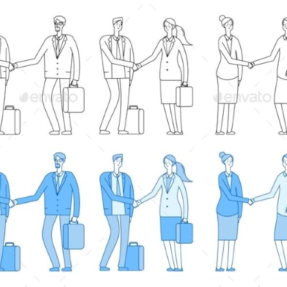 Business People Characters. Business Handshake