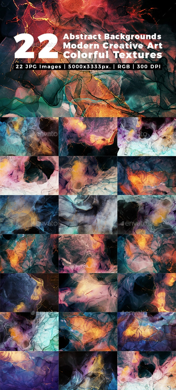 Abstract Backgrounds Modern Creative Art Colorful Textures - Abstract Backgrounds