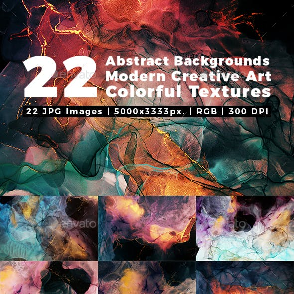 Abstract Backgrounds Modern Creative Art Colorful Textures