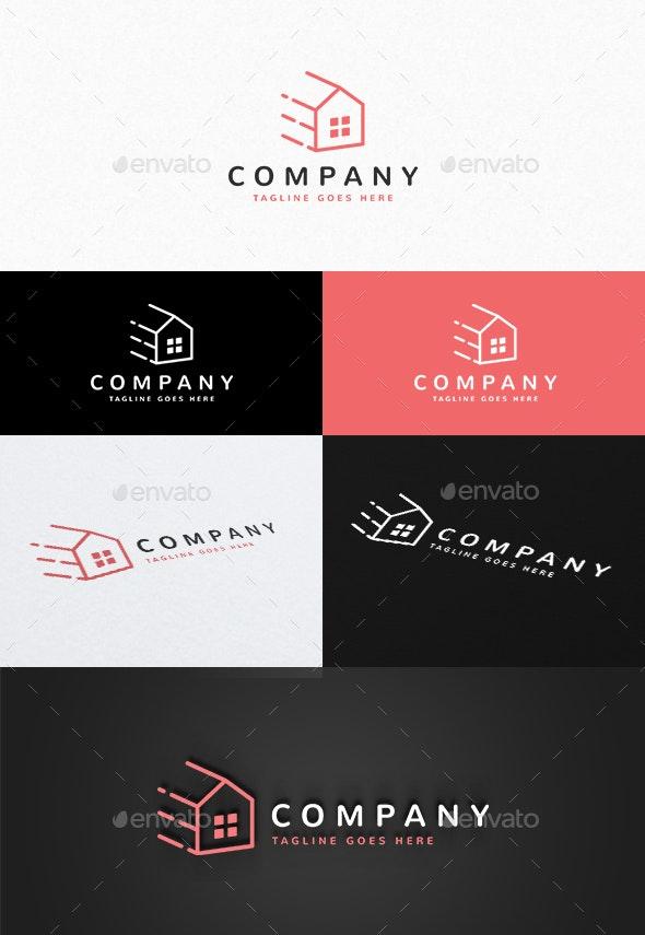 Fast House Logo - Buildings Logo Templates