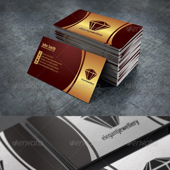 Jewelry Business Card Graphics Designs