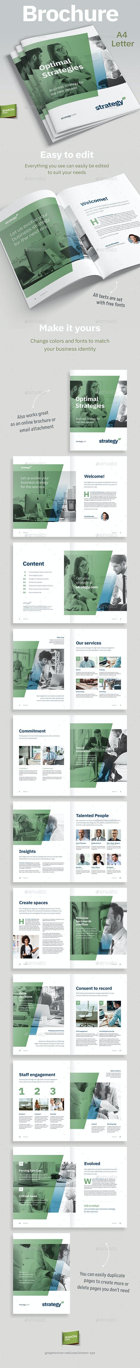 Strategy Brochure Template - Corporate Brochures