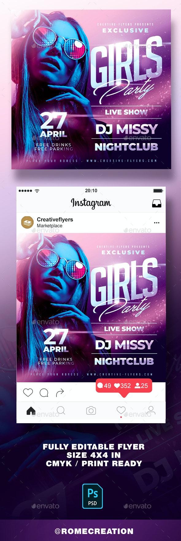 Girls Party Nightclub Flyer