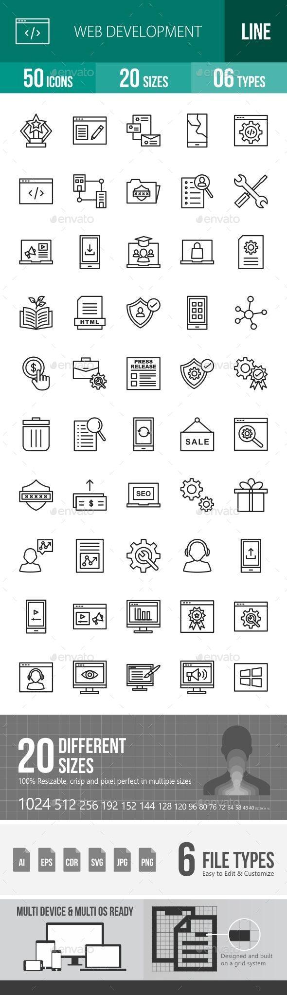 Web Development Line Icons - Icons