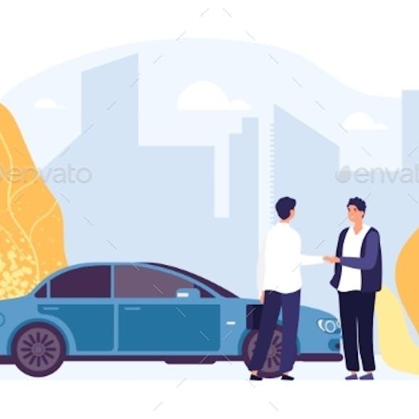 Rent Car. Carsharing, Rental Car Agency