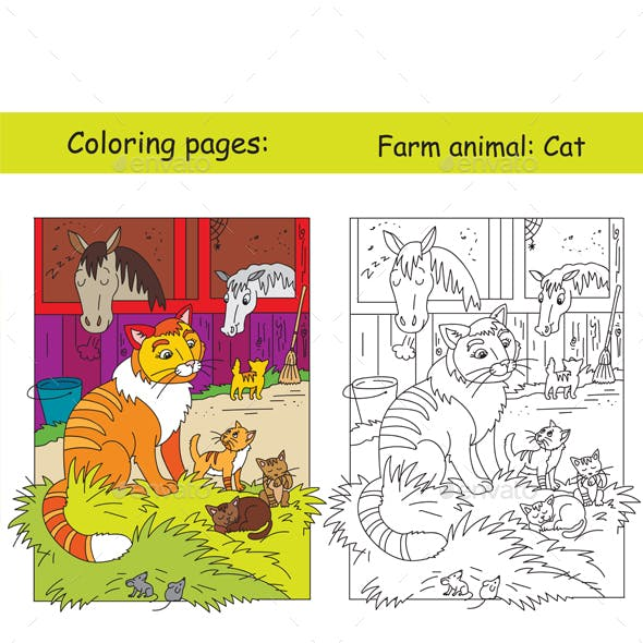 Coloring and color Cat