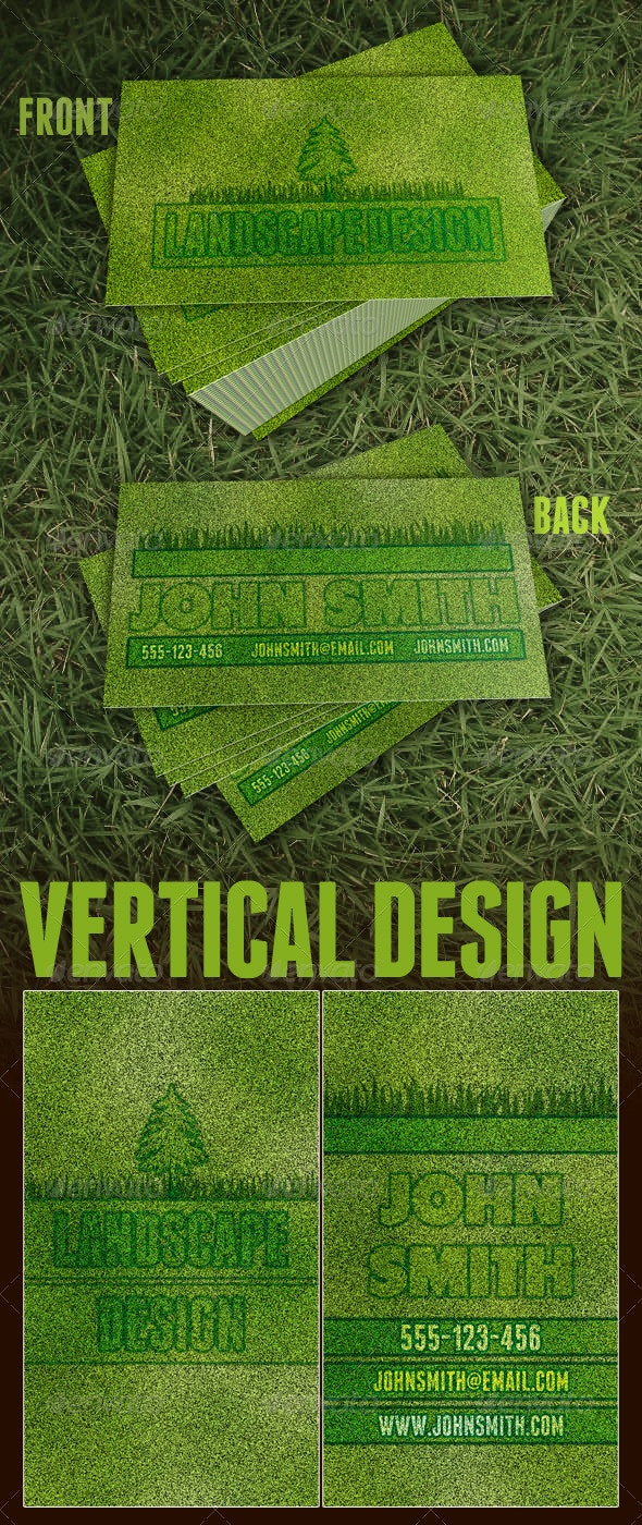 Landscaping Business Card - Creative Business Cards