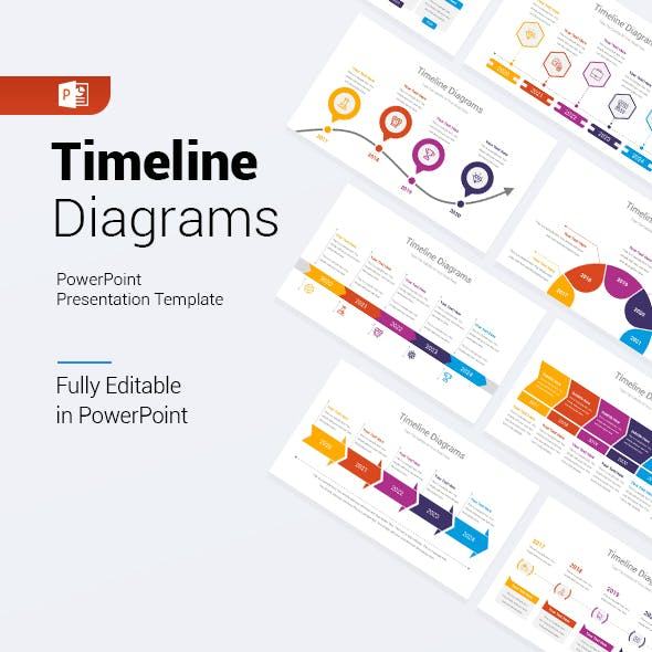 Timeline Diagrams PowerPoint Template