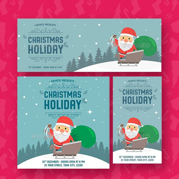 Christmas Holiday Social Media Template