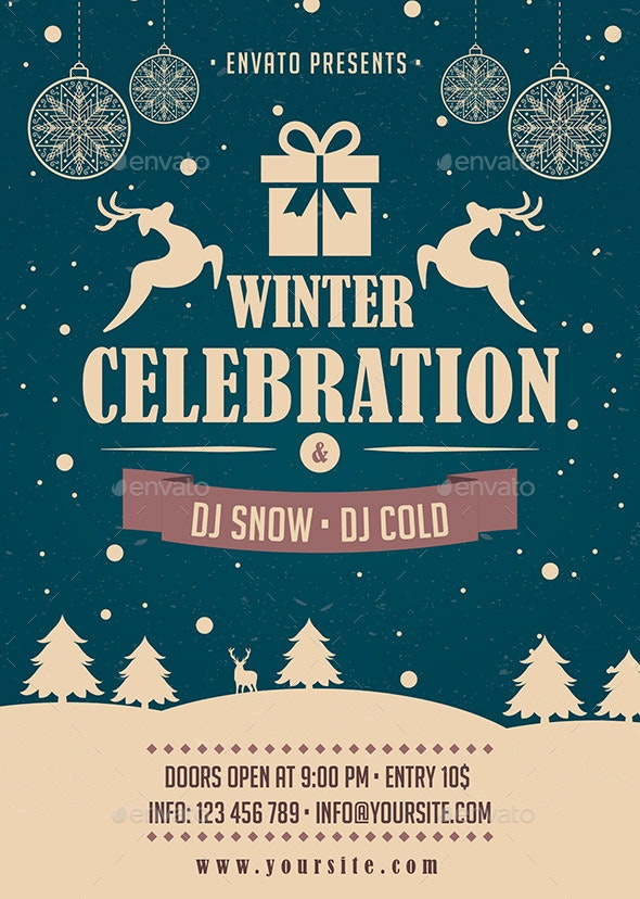 Winter Flyer - Holidays Events