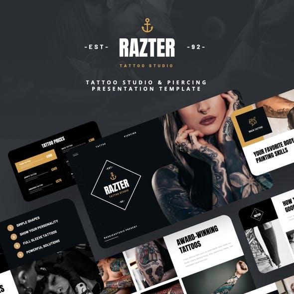 RAZTER - Tattoo Studio & Piercing Powerpoint Template