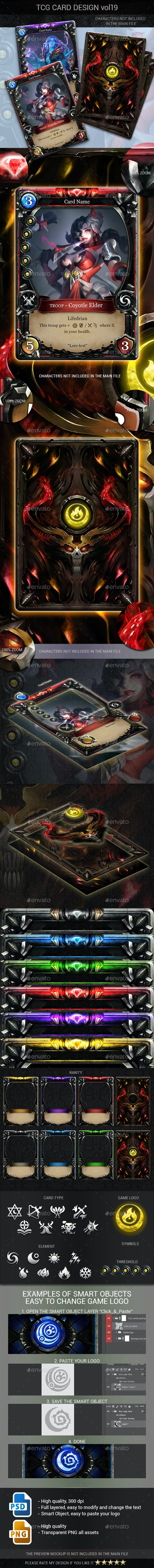 TCG Card Design Vol 19 - Miscellaneous Game Assets