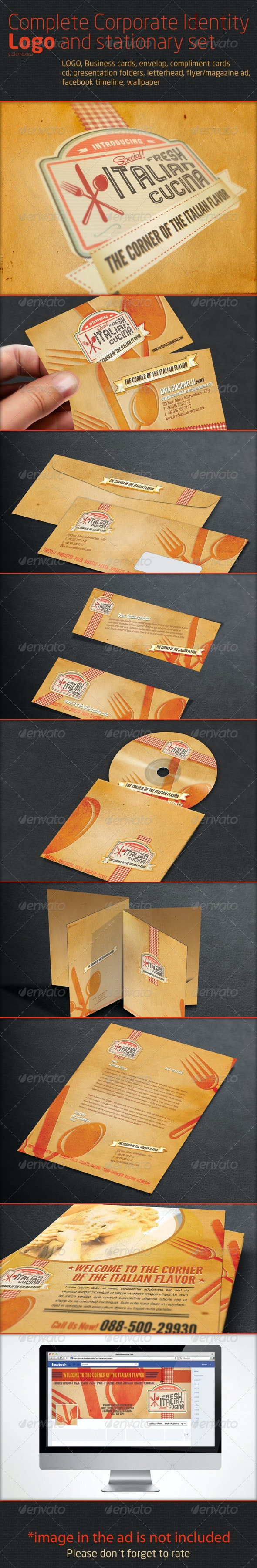 Complete Corporate Identity Logo and stationary se - Stationery Print Templates