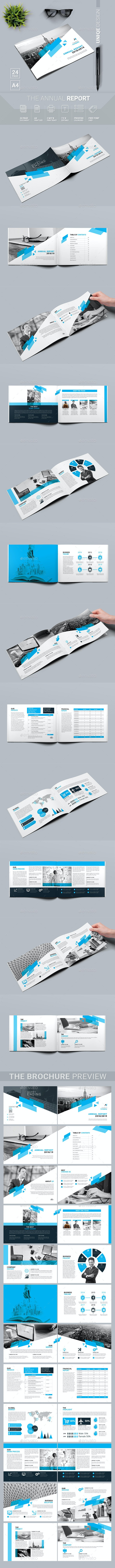 Landscape Annual Report - Magazines Print Templates