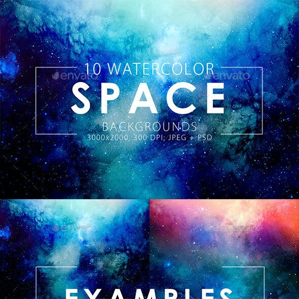Space Watercolor Backgrounds
