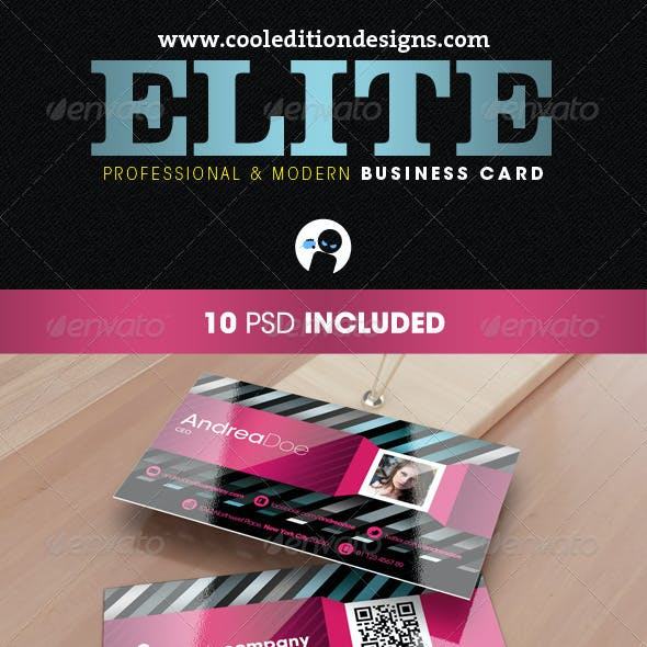 Elite – Professional and Modern Business Card