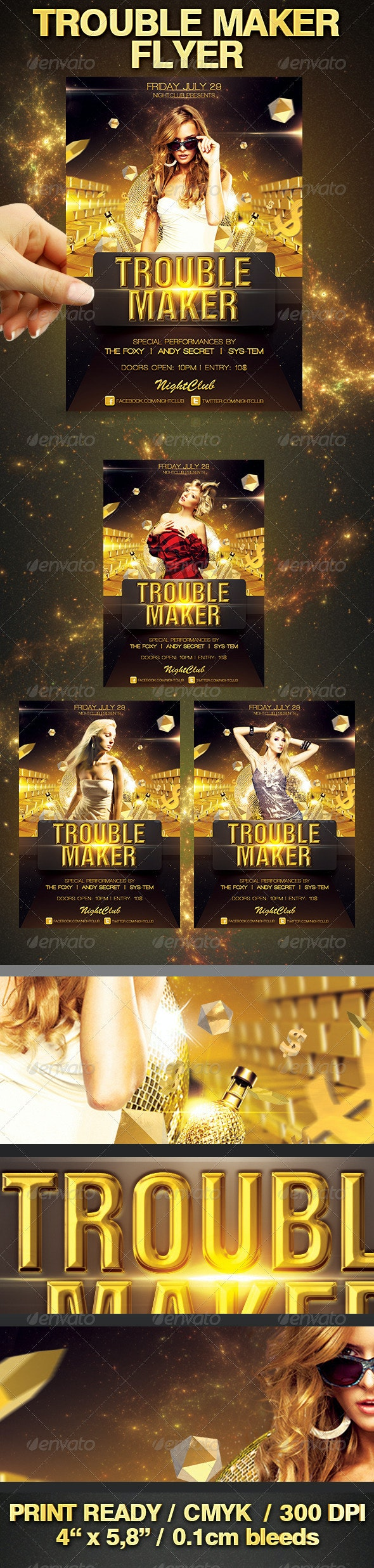 Trouble Maker Flyer - Clubs & Parties Events