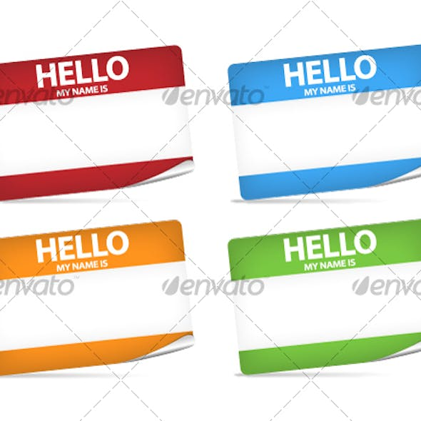 Hello My Name Is Stickers