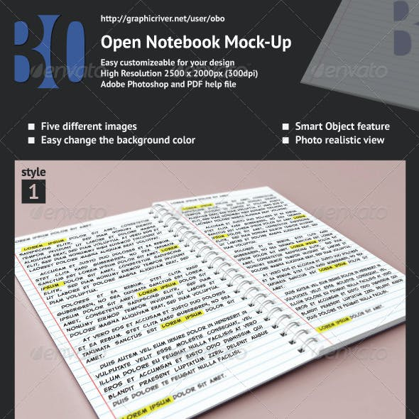 Open Notebook Mock-up