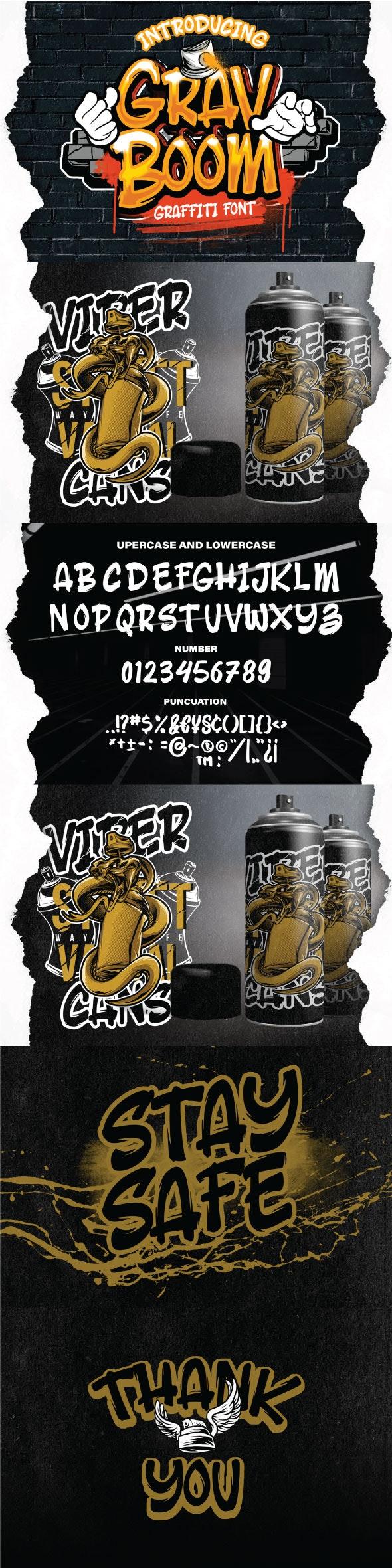 GRAVBOOM GRAFFITI FONT - Graffiti Fonts
