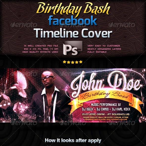 Birthday Bash Facebook Timeline Cover
