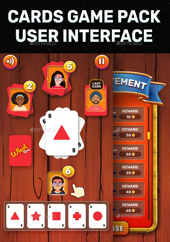 Card Game GUI Kit (Solitaire) - Game Kits Game Assets